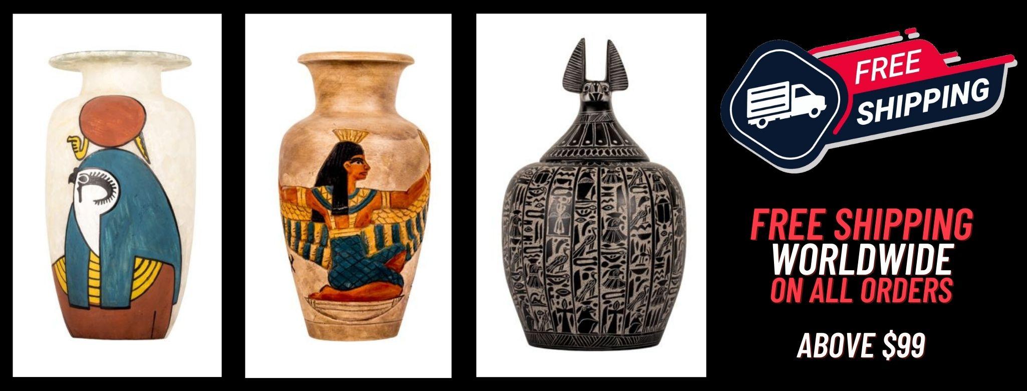 Egyptian vases