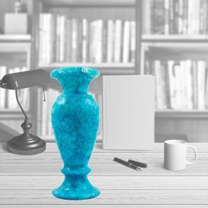 Marble Turquoise Vase handmade of alabaster, Vase for sale