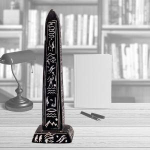 Black Alabaster Ancient Egyptian Obelisk, Black Obelisk for sale