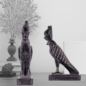 Horus God of Sky Bird Hand-Curved of Basalt Stones By Talented Egyptian Craftsmen, Horus God of Sky, Left Side Image