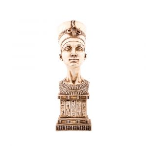 The Powerful Queen Nefertiti Statue For Sale, hand-made of Alabaster stone
