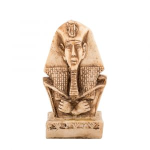 King Akhenaton Statue handmade of White Alabaster, Egyptian Figurines for sale