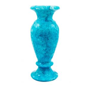 Marble Turquoise Vase handmade of alabaster, Vase for sale