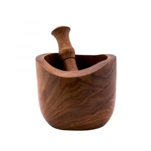 A set of Traditional Mortar and Pestle handmade of wood, Hand Pestle