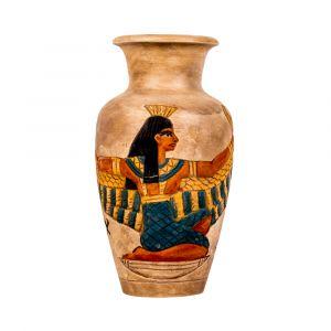 Egyptian Stone Vase of winged isis