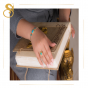 Gold Scarab Ring handmade of 18K Gold and Inlaid with Semi-precious Turquoise stone