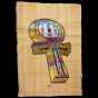 Royal Papyrus Portrait of The Key of life, Anth in the Ancient Egyptian Language.