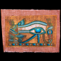 Unique handcrafted Egyptian papyrus of Wedjat Eyes of Horus painted with Onyx Stone Powder.