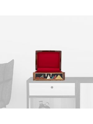 Antique Wooden Boxes With Laid | Anubis God | Swan Bazaar