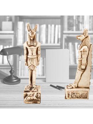 Front Image, Anubis Statue, Alabaster handmade, the Egyptian Anubis God Statue