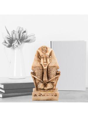 King Akhenaton Statue handmade of White Alabaster, Egyptian Figurines for sale