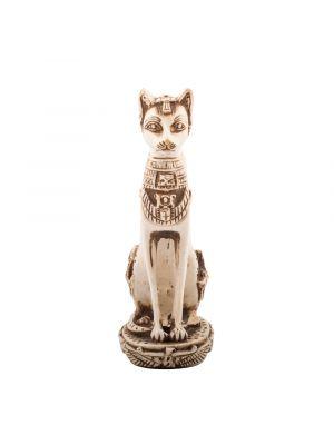 The Ancient Egyptian Bastet GoddStatue, handmade of White Alabaster, Egyptian Cat God