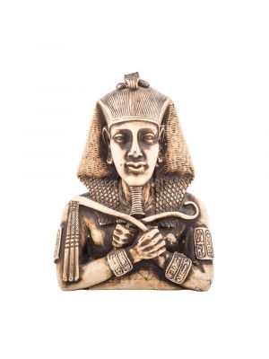 Front Picture of King Akenaton Statue handmade of white alabaster, Egyptian Artifacts and Sculptures