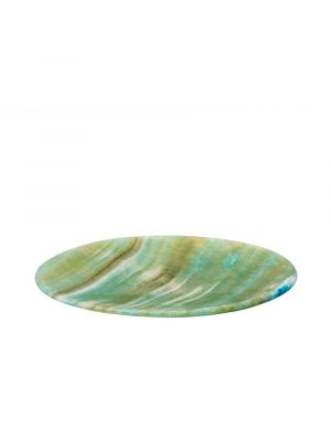 Green Marble Alabaster Plate handmade by talented Egyptian Artists, Alabaster plate for sale