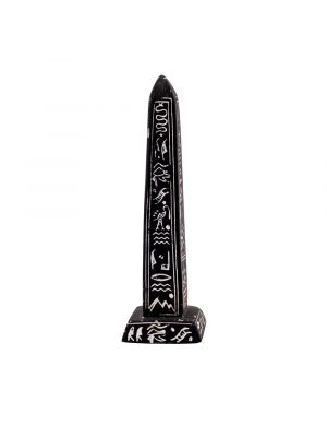 Black Alabaster Ancient Egyptian Obelisk, Black Obelisk for sale