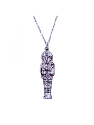 Hathor Necklace, Egyptian Silver Jewelry handmade of sterling silver