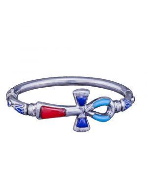 Handmade Ankh Key of Life Silver Bracelet, Egyptian Ankh Bracelet
