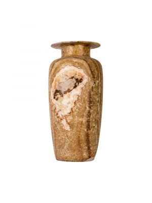 Marble Brown Vintage Vase, handcurved of alabaster stones, Brown marble vase