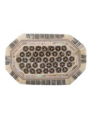 Front Image of Deluxe Islamic Designed jewelry Box with laid, Antique Wooden Box