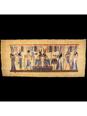 Royal Papyrus Portrait of Nefertari's Coronation in front of Goddess Hathor.