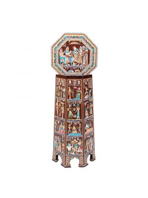 Top Scene Picture, Ancient Egyptian Scenes inlaid Table, handmade of Mahogany wood, Decorative tables