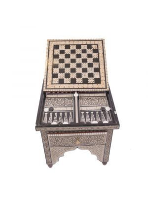 Backgammon Table Islamic Deluxe Designed handmade and inlaid with Mothers of Pearl, backgammon table for sale