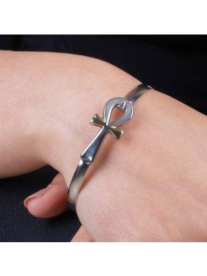 Silver Ancient Egyptian Ankh Bracelet, Ankh Bracelet