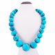 Queenly adorned with Precious marble Turquoise stones Necklace
