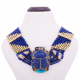 Gold Gemstone Scarab Necklace, Scarab Necklace
