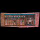 80 years aged Unique masterpiece handcrafted Egyptian papyrus of The Osiris' Court painted with Onyx Stone Powder.