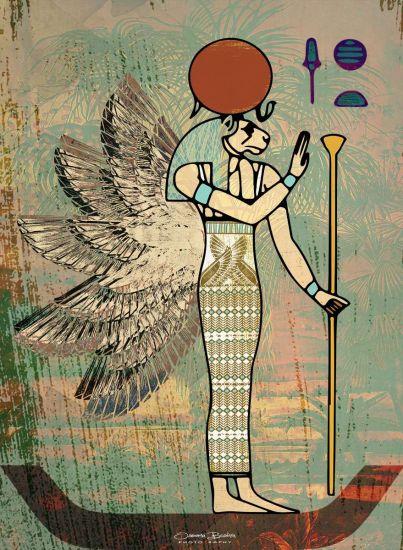 Sekhmet Egyptian God | Egyptian Lion Goddess | Mix Media