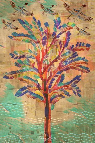 Ancient Egyptian Flowers | Mixed Media Artwork |Tal Amarna Gardens | Swan Bazaar