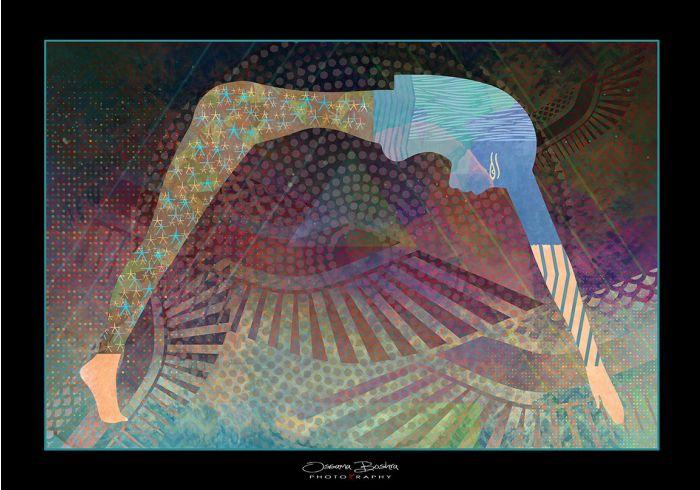 Egyptian Sky God |Sky Goddess Nut | Mixed Media Art | Artwork For Sale | Swan Bazaar