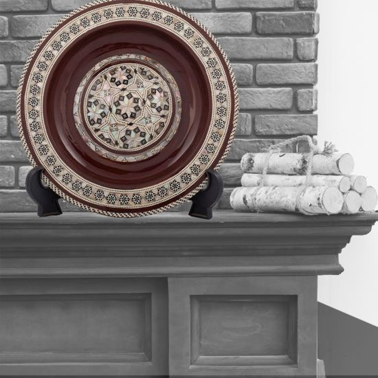 Decorative Plate For Hanging | Arabesque Ornamented Plate | Swan Bazaar