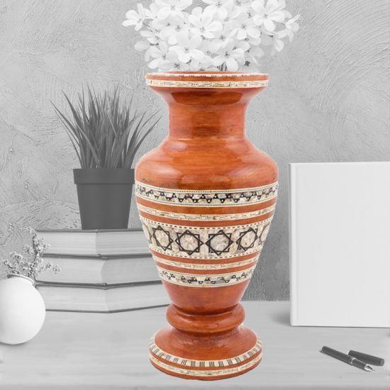 Rustic Wood Vase | Wood Vase | Wooden Antiques