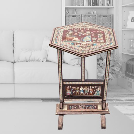 Mother of Pearl Side Table | Egyptian Table | Decorative Table | Swan Bazaar