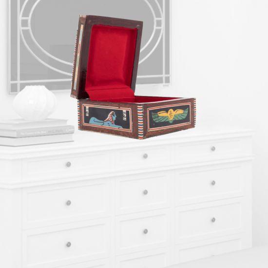 Jewelry Gift Box | Ancient Egyptian Scenes | Swan Bazaar