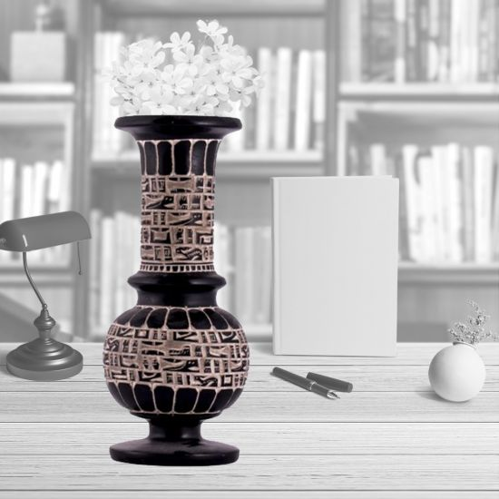 Black Vase| Egyptian Stone Vases | Large Black Vase