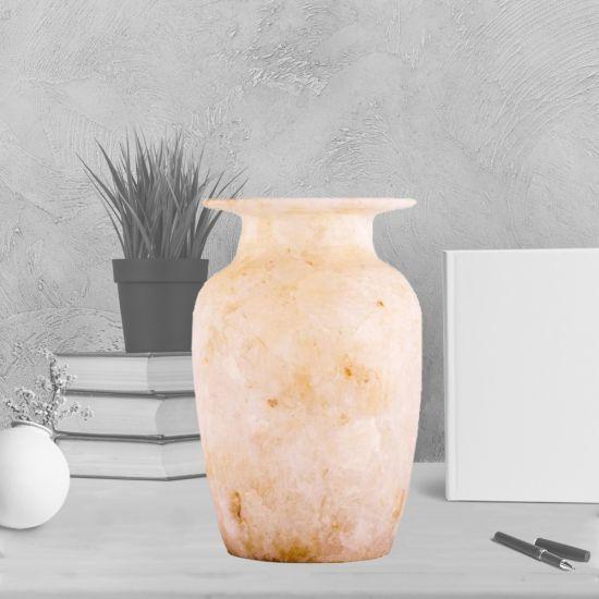 White Marble Alabaster Vase | Vintage Vases For Sale | Alabaster Vases For Sale
