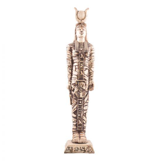 Hathor Coffin Statue handmade of Alabaster, Hathor Statue For Sale