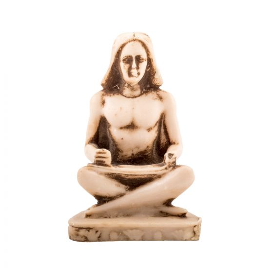 The Seated Scribe Statue Handmade of Alabaster Material, the seated Scribe