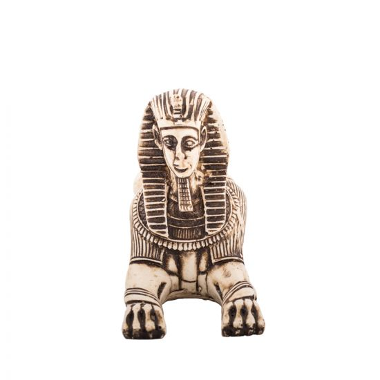 Front image of the sphinx statue handmade of alabaster stones, Sphinx Statue For Sale