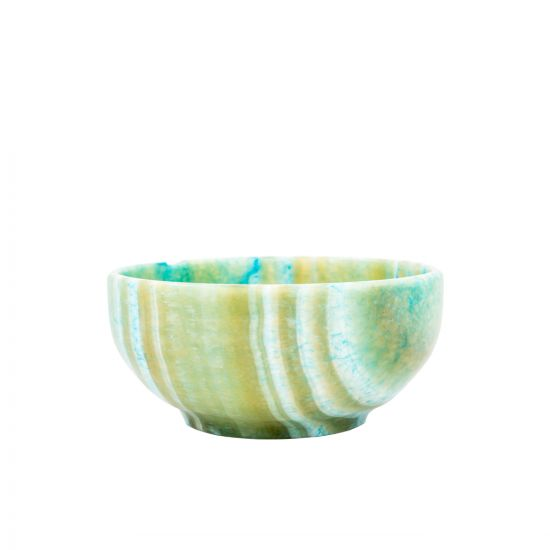 Turquoise Bowl, a fruit bowl, handmade of Turquoise Alabaster Material