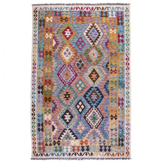 Colorful Oriental Area Rug, Balouchi Rugs Design 4x6 Feet