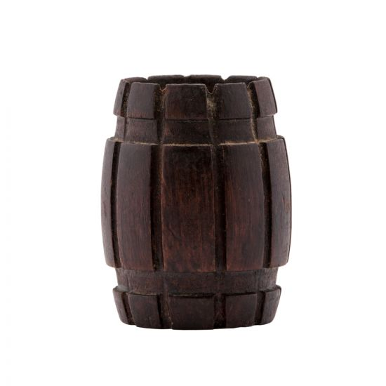 Decorative Wooden barrel for your desk is hand-made of Asersus wood