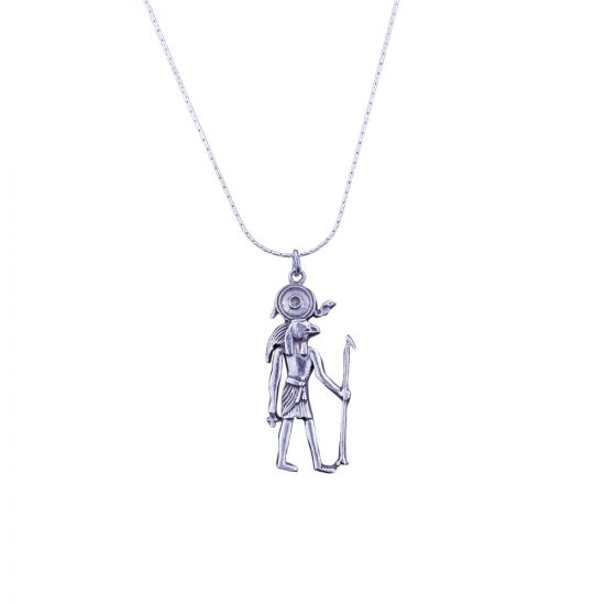 Egyptian God Necklace, Egyptian Silver Necklace
