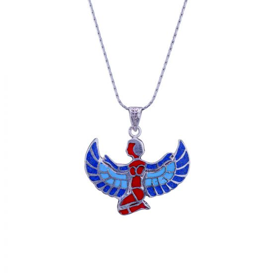 Winged Isis Goddess necklace, Egyptian Goddess Necklace