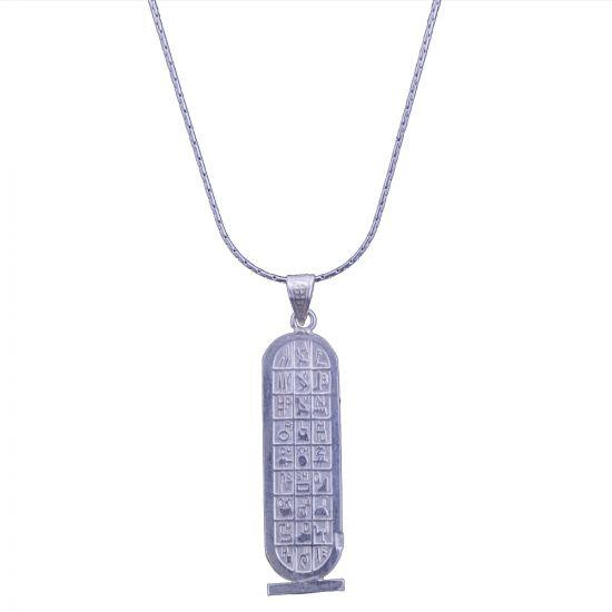 Ancient Egyptian Hieroglyphics Cartouche silver handmade, Catouche Pendant
