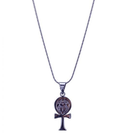The Egyptian Key of life Silver Necklace, Ankh chain