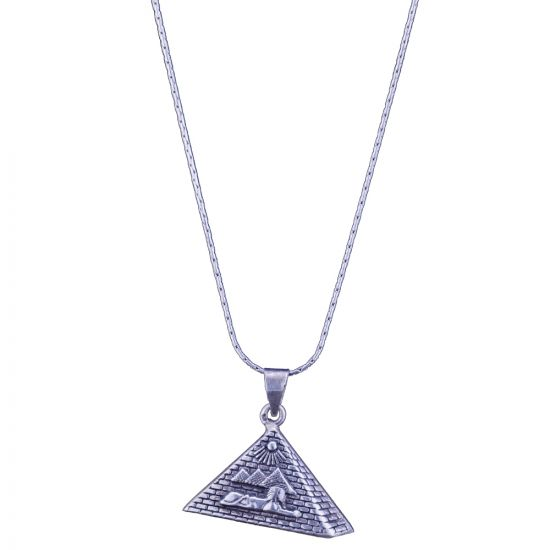 Pyramid Necklace handmade of sterling silver, Pyramid Necklace